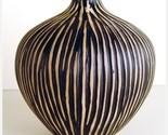 Zebra African Ceramic Vase - 6 Inch