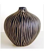 Zebra African Ceramic Vase - 6 Inch - $52.00