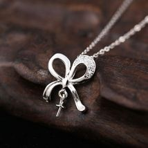 925 Sterling Silver Pendant Clasp 7-11mm Pearl ... - $26.00