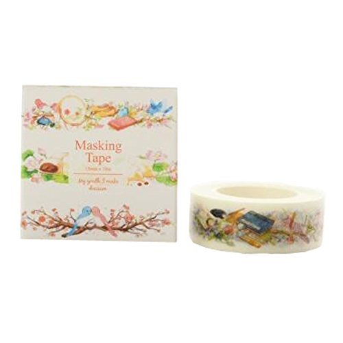 Primary image for 3PCS Beautiful Masking Tape DIY Tape Wrapping Adhesive Tape Sticky Paper, D