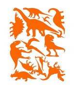 LiteMark Orange Assorted Dinosaur Decals - Pack of 42 - $19.95