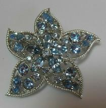 Vintage Sarah Coventry Silver-tone Blue Rhinestone Star Brooch - $18.80