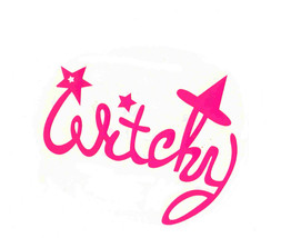 """BLACK FRIDAY SALE 5"""" pink witchy decal ideal cars, trucks, home etc easy toapply"""