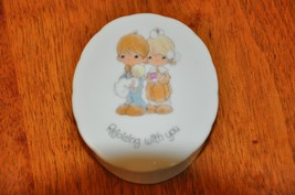 """Precious Moments Trinket Box 1984 """" Rejoicing With You"""" - $5.00"""