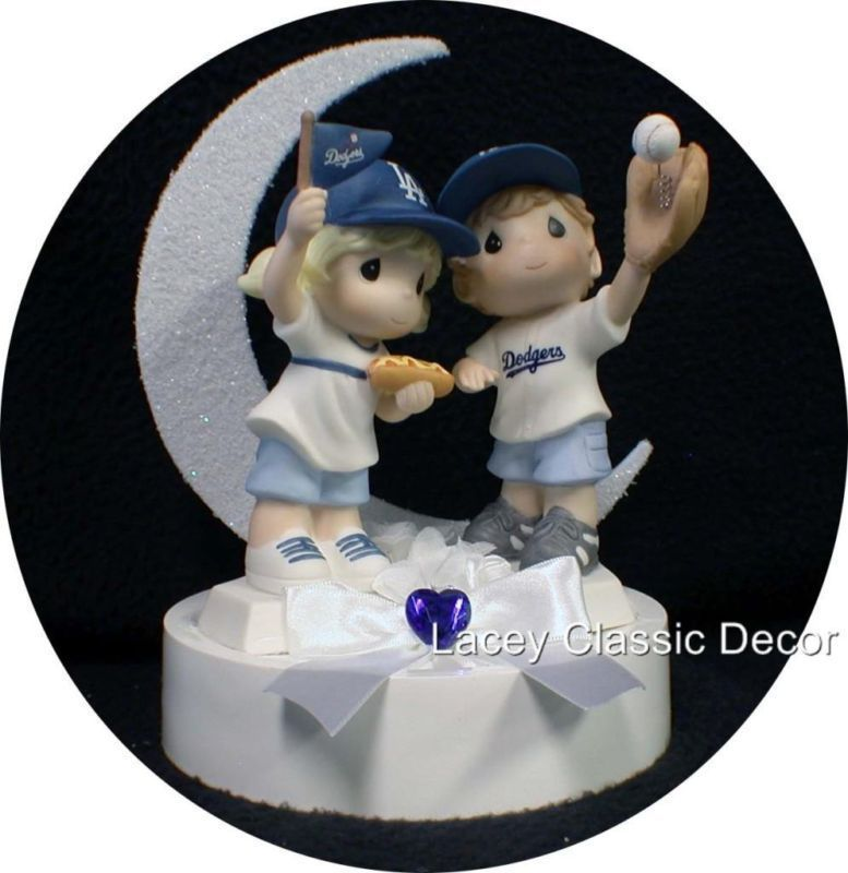 angels baseball wedding cake topper los angeles dodgers baseball fans wedding cake topper 10763