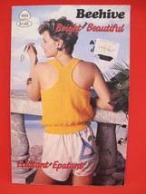 Vintage Patons Beehive Knitting Patterns Summer Shells Sweaters LADIES  - $5.99