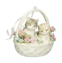 Cosmos 96557 Fine Porcelain Kittens in Basket Figurine, 3-3/4-Inch - $25.21