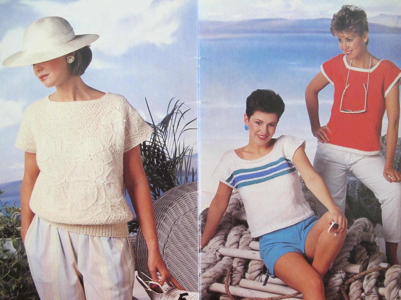 Vintage Patons Beehive Knitting Patterns Summer Shells Sweaters LADIES