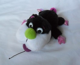 """RUSS BERRIE 7"""" L  Black White CAT w/ MOUSE in his mouth plush Toy RARE! ... - $22.63"""