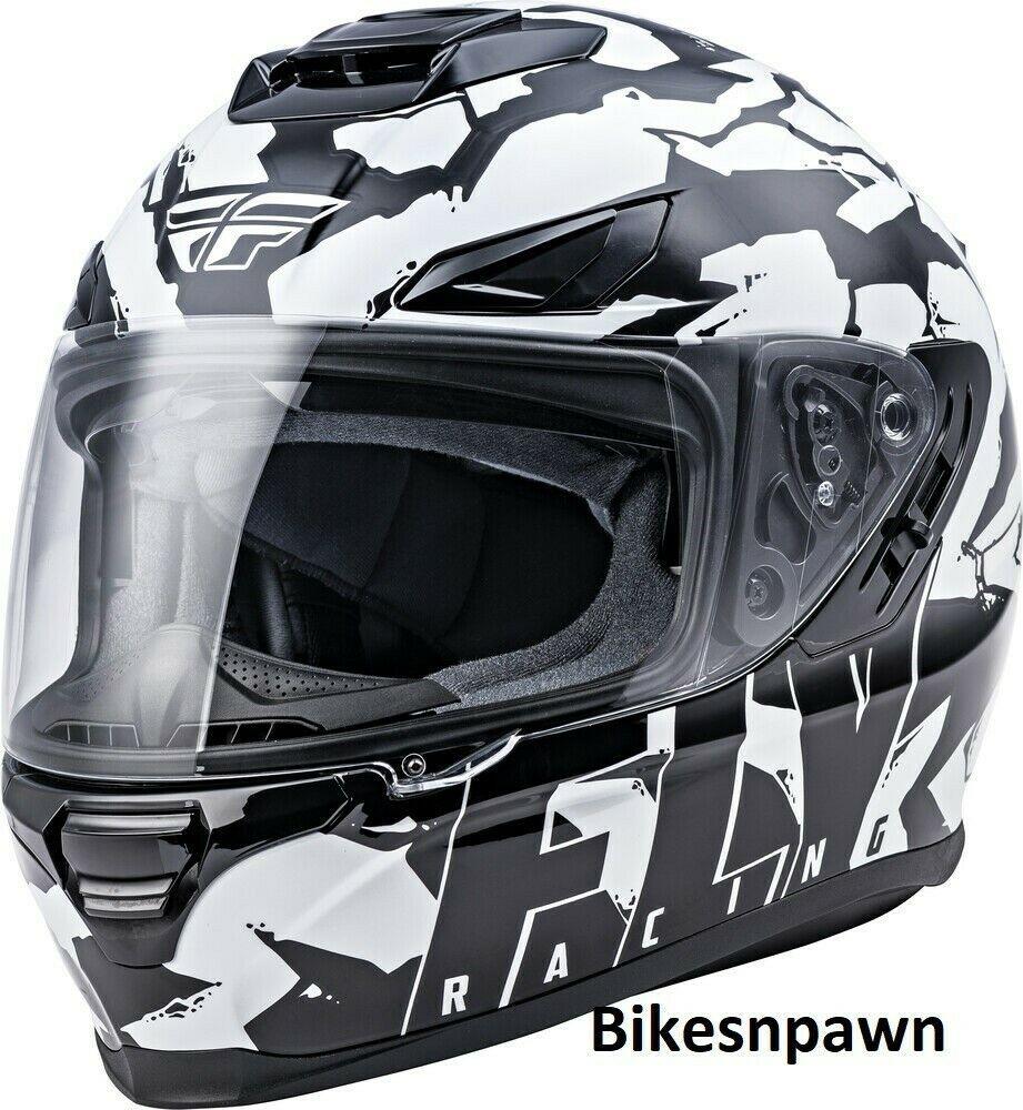 M Fly Racing Sentinel Ambush Motorcycle Helmet Camo/Black/White DOT & ECE
