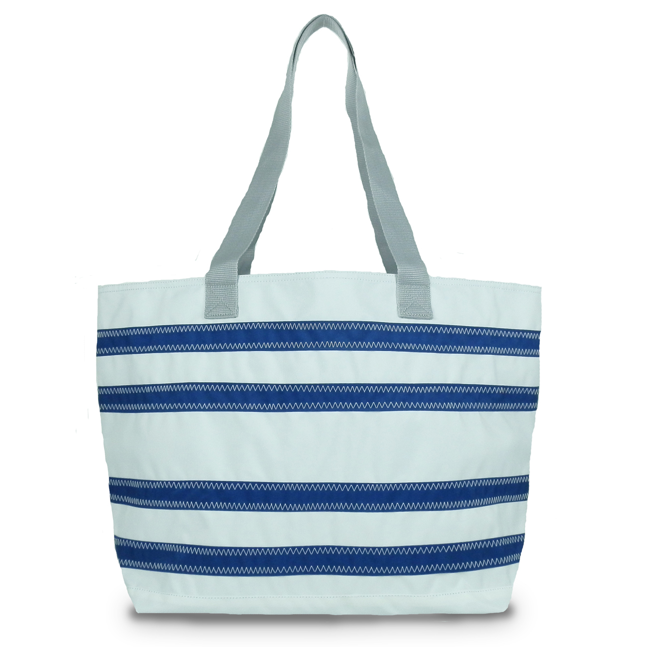 Stripe tote, Nautical tote, Beach shopper, Canvas shopper bag, Vegan beach tote