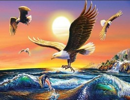 Adrian Chesterman Eagles At Sunset 1000pc Jigsaw Puzzle - $29.95