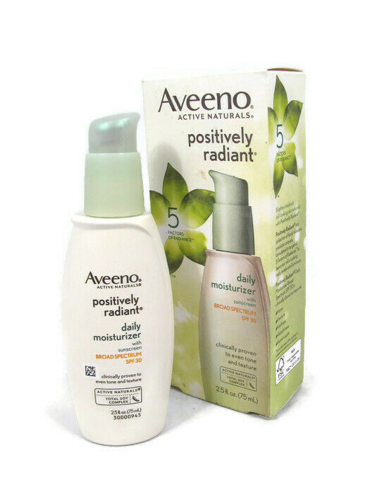 Aveeno Positively Radiant Daily Moisturizer With Sunscreen SPF30 2.5fl Oz image 2