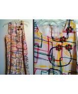 WHITLEY mod '60s geometric Stylecraft Mondrian Mad Men silk dress stunni... - $99.99