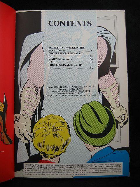 The Uncanny X-Men Annual 1992 Marvel Comics
