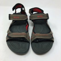 Ecco Hiking Sandals Mens EUR 44 US 10 Hook And Loop Closure Leather NWOB - $78.15 CAD
