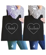 Best Babes BFF Matching Black Canvas Bags - $30.99