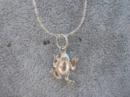 Frog 925 Sterling Silver Pendant Necklace w/Chain Frogs - $29.99