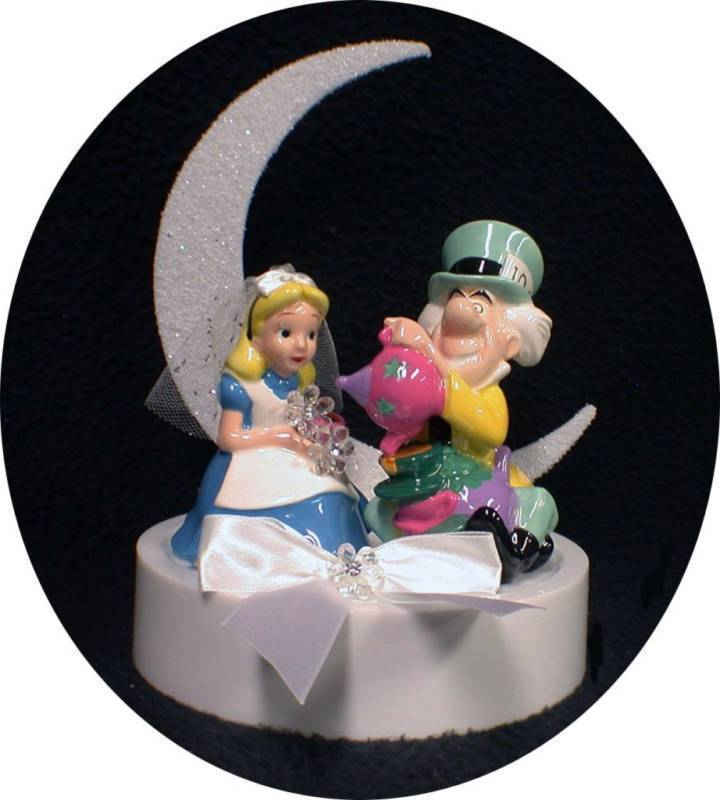 alice in wonderland wedding cake toppers in tea mad hatter and wedding 10671
