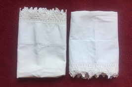 Set of Vintage 30s Intricate Crocheted Full Edge Pillowcases image 2