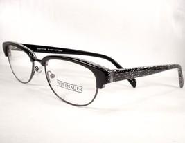 Wittnauer Beth Black Pattern 53-17-140 Women Reto Eyeglasses Designer - $89.07