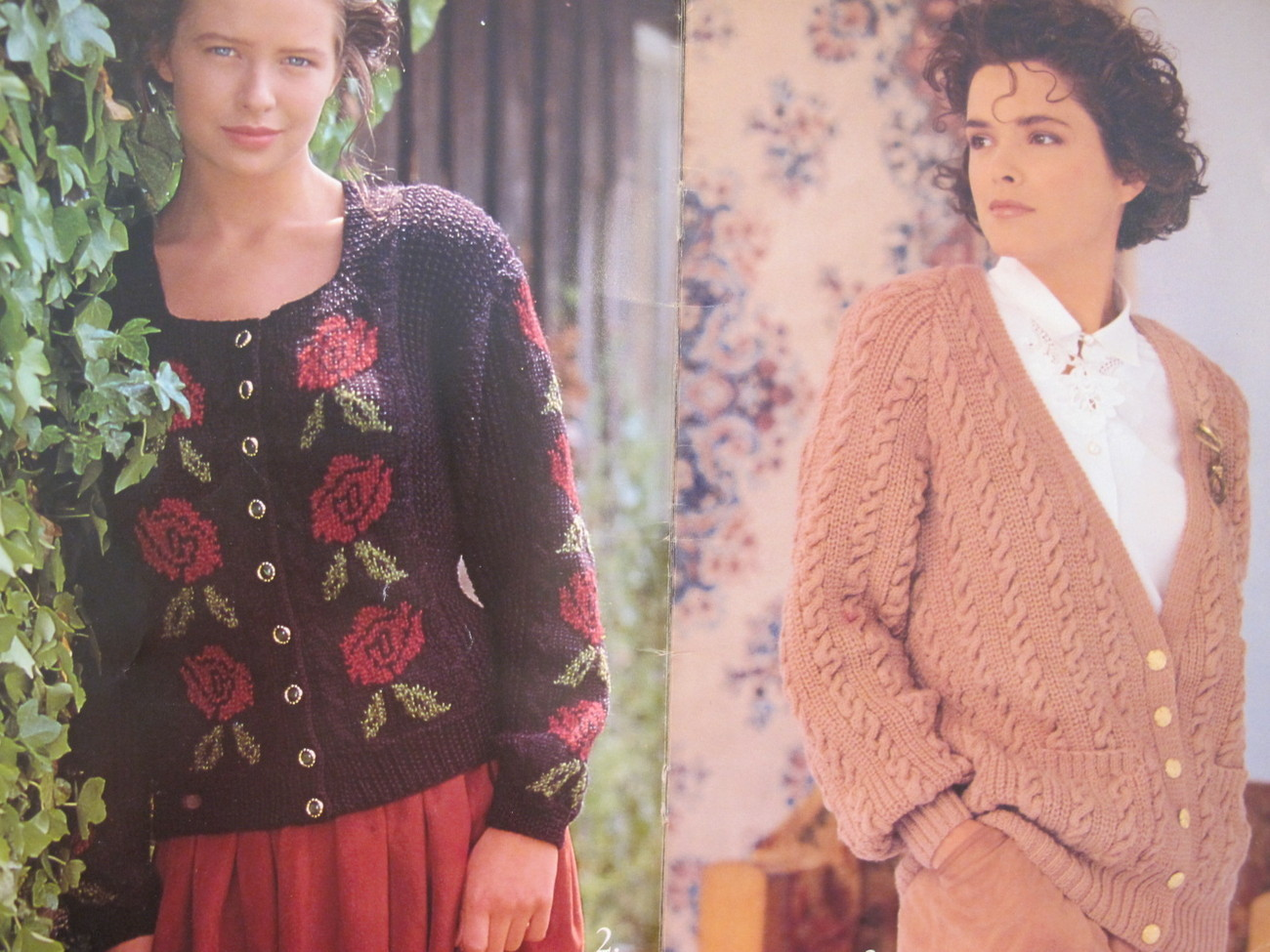 Vintage Patons Knitting Patterns Cardigan Sweaters ADULTS Ladies Small Med Large