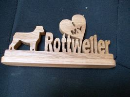 Wooden I love my Rottweiler display - $20.00
