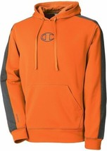 Champion Mens Sweatshirt Sz M Persimmon Orange Gray Hooded Pullover Doub... - $39.53