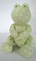 Russ Baby Froggles Frog Soft Green Plush Bean Bag Stuffed Animal Doll To... - $14.84
