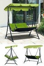 2 Seater Garden Swing Chair Outdoor Patio Porch Hotel Hanging Seat Loung... - $339.34