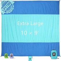 WEKAPO Sand Free Beach Blanket, Extra Large Oversized 10'X 9' for 7 s Be... - $874,17 MXN
