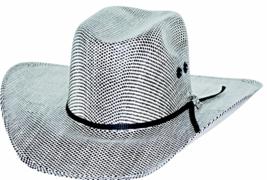 Bullhide PBR Shades Of Black 50X Muskogee Straw Cowboy Hat Sweatband Bla... - $83.00