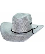 Bullhide PBR Shades Of Black 50X Muskogee Straw Cowboy Hat Sweatband Bla... - €70,00 EUR