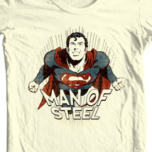 Man of Steel Superman T-shirt Classic Golden Age DC comics graphic tee SM1932 image 1