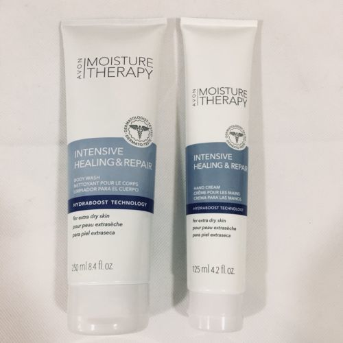 Avon Moisture Therapy Intensive Healing and Repair Body Wash and Hand Cream Set