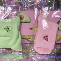 NEW Glow Recipe Avocado Crew Socks Super Cute Embroidered Mint/ Light Green image 2