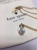 KATE SPADE 12K Gold Plated Star Bright Owl Mini Pendant Necklace w/dust Bag - $34.99