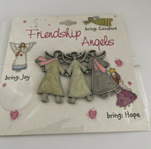Friendship Angels Enamel Pin Brooch - Comfort Joy & Hope Lv147 - $12.34
