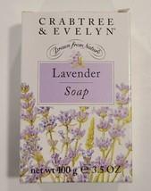 Crabtree And Evelyn Lavender Bar Soap 3.5oz / 100 g NIB - $21.78