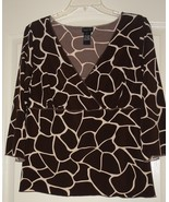 Ladies animal print Blouse size Large Nwots - $12.00