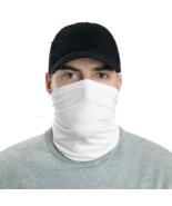White Tube Bandanna Neck Gaiter face mask and neck warmer - $21.95