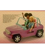 New Barbie Purple Vehicle With Rolling Wheels - $37.59