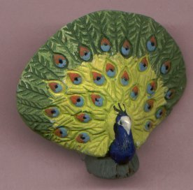 CERAMIC PEACOCK BEAD