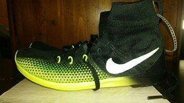 Nike Zoom Victory XC 4 Track spikes not included Black lime gr child siz... - $14.85