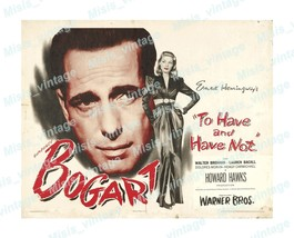 To Have and To Have Not 1944 Vintage Movie Poster Reprint  - $5.95+