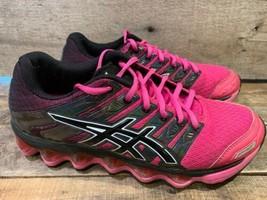 ASICS Gel G-T3D.1 Course Femmes Chaussure Taille 7 Rose Noir T2G8N - $29.29
