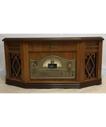 Emerson NR303TT Wood Cabinet Turntable Cassette CD Player AM/FM Stereo T... - $113.84