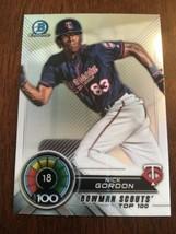 Nick Gordon 2018 Bowman Baseball SCOUTS TOP 100 #BTP-18 Twins - $1.97
