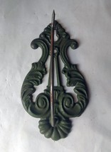 Victorian Era Decorative Receipt or Bill Hook, Spindle, Office Olive Green - $8.59