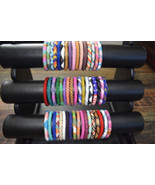 * USA 1 SET Nepal Rolls on Bead Glass Seed Bracelet crochet handmade ban... - $0.98+